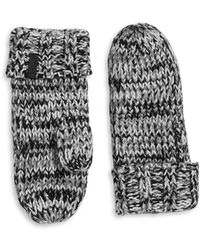 Rella - Wool-blend Knit Insulated Mittens - Lyst