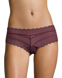 Lord & Taylor - Lace Cheeky Bikini Panty - Lyst