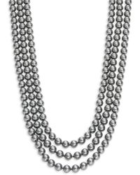 Nadri - Three-row Simulated Faux Pearl Necklace- 18 In. - Lyst