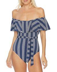 Splendid - Long Lines Off-shoulder One-piece Swimsuit - Lyst