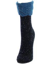Memoi - Cotton Blend Texuted Socks - Lyst