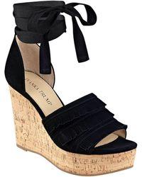Ivanka Trump - Zabre Platform Wedge Sandals - Lyst