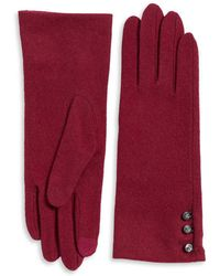 Lauren by Ralph Lauren - Three-button Touch Classic Gloves - Lyst