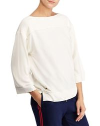 Lauren by Ralph Lauren - Bateau Straight Top - Lyst