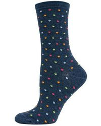 Hot Sox - Pindot Hearts Printed Trouser Socks - Lyst