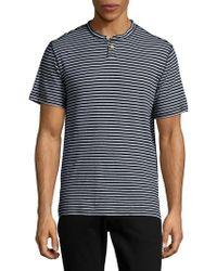 Surfside Supply - Striped Linen-blend Tee - Lyst