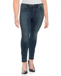 Vince Camuto - Plus Frayed Cuff Jeans - Lyst