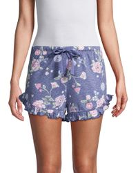 Roudelain - Ruffle Floral Shorts - Lyst