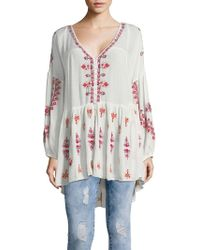Free People - The Arianna Embroidered Tunic - Lyst