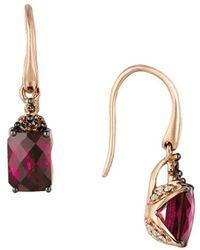 Le Vian - 14k Strawberry Gold? Raspberry Rhodolite? Vanilla Dimaonds? & Chocolate Diamonds? Earrings - Lyst