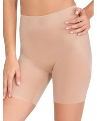 Spanx - Skinny Britches Mid-thigh Shorts - Lyst