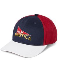 c442ee6282b299 Nautica - J-class 6-panel Signal Flag Cap Hat, Red, One