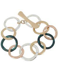 Robert Lee Morris - Hearts Tri-tone Circle Link Bracelet - Lyst