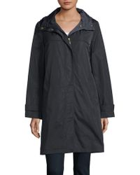 Ellen Tracy - Zip-front Hooded Raincoat - Lyst
