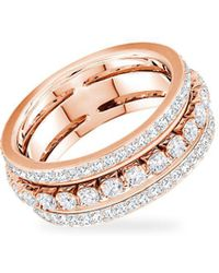Swarovski Rose-goldtone And Crystal Ring - Metallic