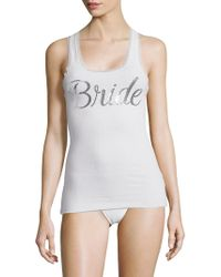 Betsey Johnson - Bridal Lace Trimmed Tank Top - Lyst