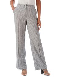 Olsen - Ethno Lounge Striped Anna Trousers - Lyst
