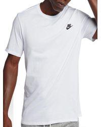 b1f46a46b27a Lyst - Nike Logo Athletic Tee in Blue for Men