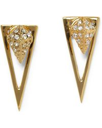 Vince Camuto - Crystal Pave Pyramid Dangle & Drop Earrings - Lyst
