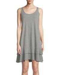 Lord & Taylor - Stripe Sleeveless Cotton Dress - Lyst