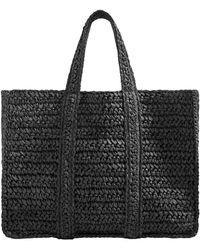 Mango - Braided Shopper Bag - Lyst