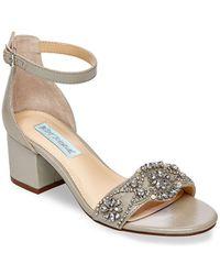 Betsey Johnson - Mel Embellished Ankle-strap Sandals - Lyst