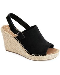 TOMS - Monica Suede Wedge Espadrilles - Lyst