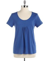 Lord & Taylor - Short Sleeved Scoopneck Tee - Lyst