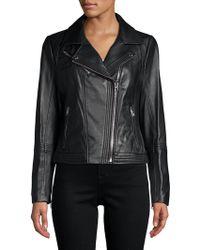 MICHAEL Michael Kors - Asymmetric Moto Jacket - Lyst