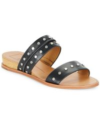 Dolce Vita - Pacey Leather Slide Sandals - Lyst