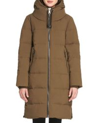 Donna Karan - Down Cost Quilted Jacket - Lyst