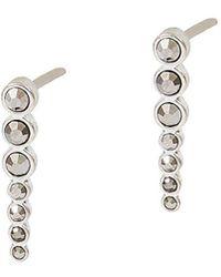 Lucky Brand - Modern Opulence Silvertone Pave Crawler Earrings - Lyst
