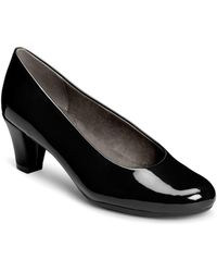 Aerosoles - Shore Thing Faux Patent Leather Court Shoes - Lyst