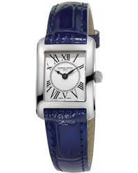 Frederique Constant - Carree Stainless Steel Leather Strap Watch - Lyst