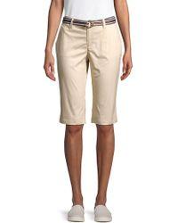 Rafaella Petite Belted Chino Shorts