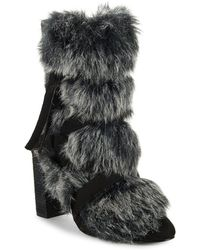 Charles David - Alberta Faux Fur Belted Bootie - Lyst