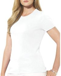 Lauren by Ralph Lauren - Plus Plus Size Monogram Cotton T-shirt - Lyst