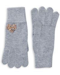 Lord & Taylor - Embellished Heather Knit Gloves - Lyst