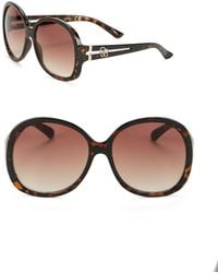 Jessica Simpson - 58mm Oversized Round Sunglasses - Lyst