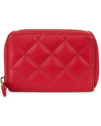 Lord & Taylor - Quilted Zip Around Wallet - Lyst
