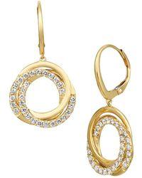 Le Vian - Nude Palette 14k Honey Gold & Nude Diamonds Spiral Hoop Earrings - Lyst