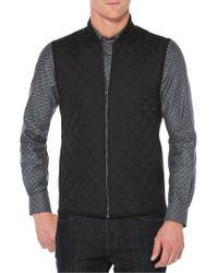 Perry Ellis - Big And Tall Quilted Full-zip Vest - Lyst