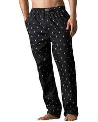 Polo Ralph Lauren Printed Pony Cotton Pyjama Trousers - Black