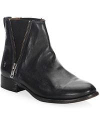 Frye - Carly Zip Leather Chelsea Boots - Lyst