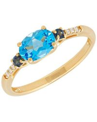 Lord & Taylor - Diamond And 14k Yellow Gold Ring - Lyst
