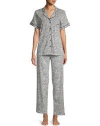 Sesoire - 2-piece Printed Cotton Blend Pyjama Set - Lyst