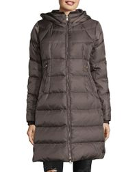 Vince Camuto - Down-filled Zip Front Faux Fur Coat - Lyst