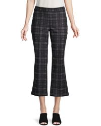 Ellen Tracy - Printed Cropped Flared Leg Trousers - Lyst