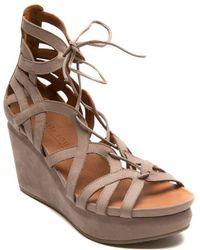 Gentle Souls - Joy Nubuck Leather Platform Wedge Sandals - Lyst