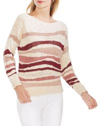 Vince Camuto - Oasis Bloom Striped Knit Jumper - Lyst